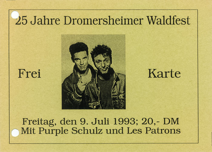 1993 Ticket mit Purple Schulz